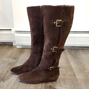 Aerosoles Sarasota knee-high suede boots size 8